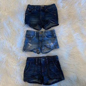 3 pairs girls shorts 5/6